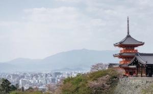 Kiyomizu Temple overlooking Kyoto